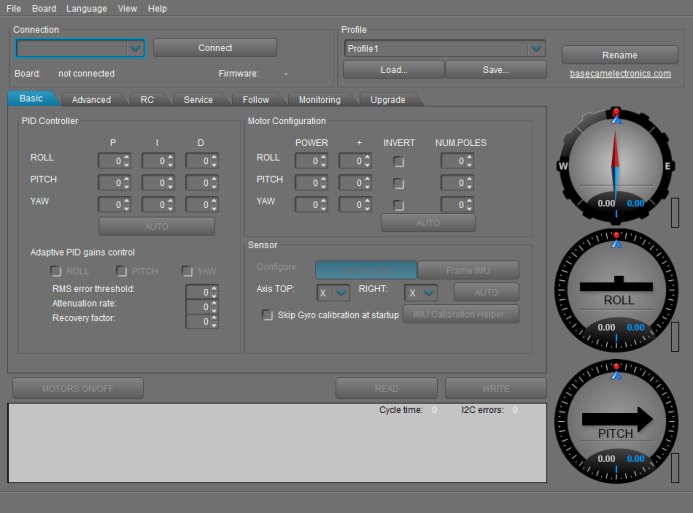 Gimbal Configuration Software
