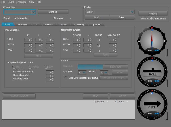 Gimbal Configuration Software