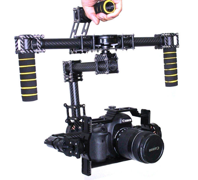 Using the gimbal's top handle