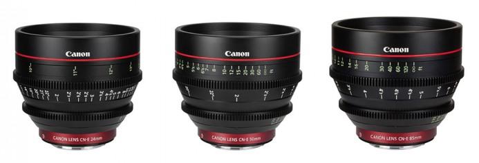 Canon EF Cine lenses