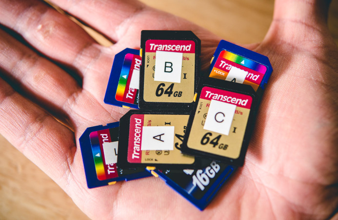 Memory Cards fit a lot of footage in a tiny form-factor