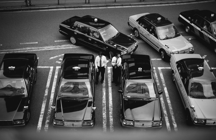 Taxis Drivers at Ebisu Station