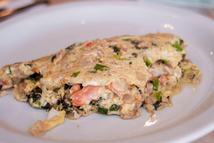 Spinach & Tomato Omelet