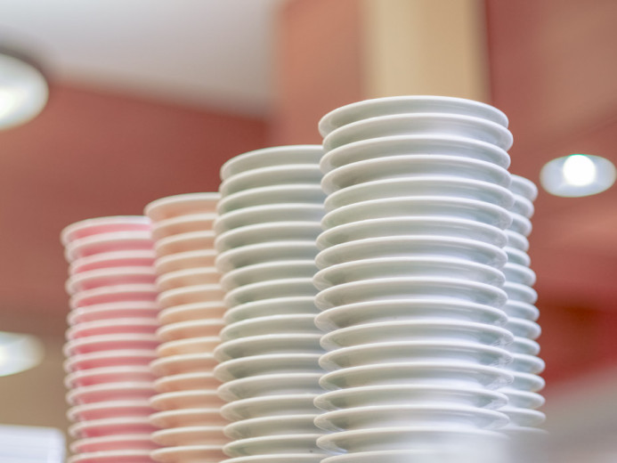 Sushi Plates Stacked High!