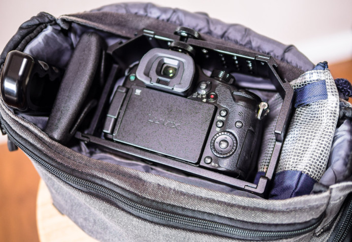Cage takes up more space in camera bag