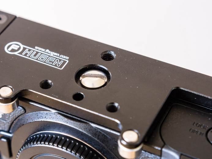 Cage attaches to GH4's tripod mount