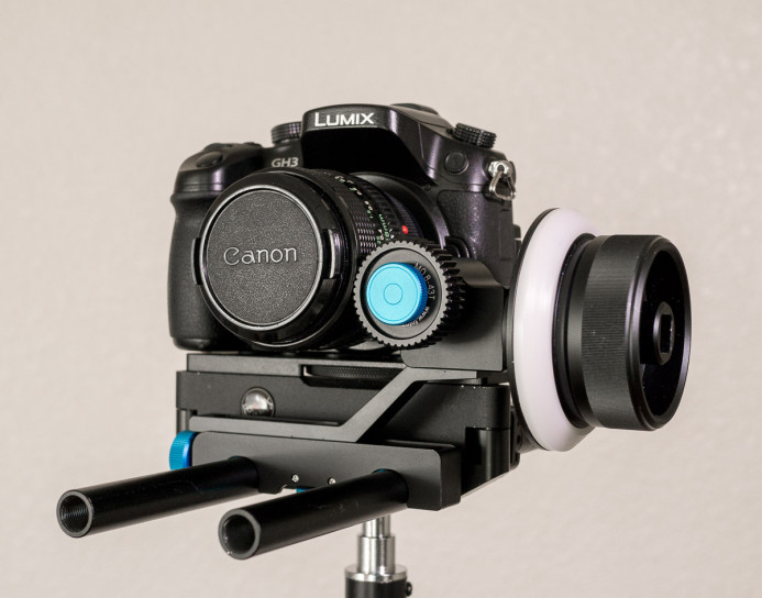 Follow Focus mounted on Compact Rig