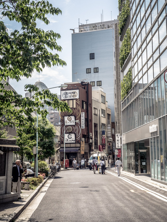 Shops and Shrines in Ginza