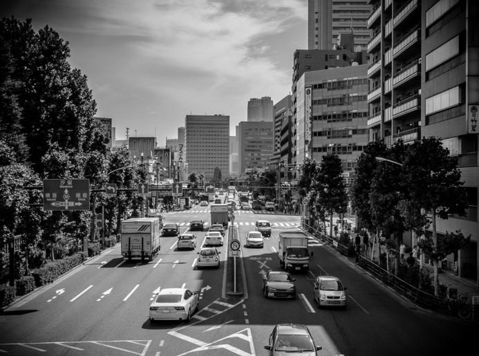 Traffic Increasing in Ginza