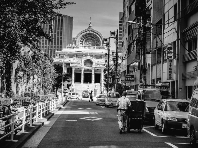 Tsukiji Hongan-ji in the Distance