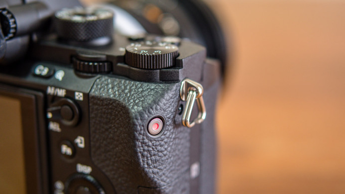 Sony a7S II's awkward record button