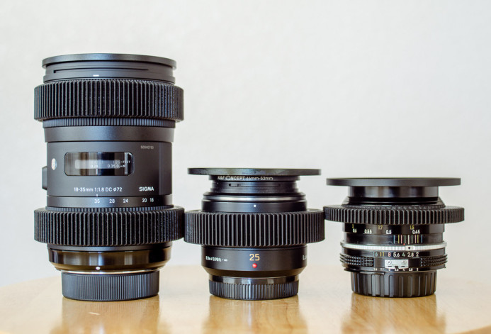 Lenses equipped with focus gears