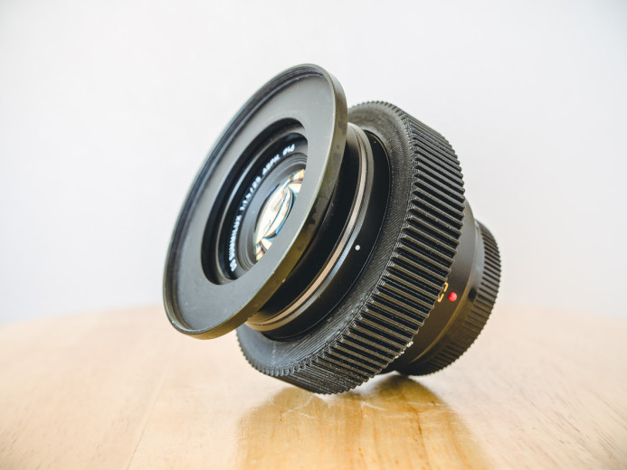 Panasonic 25mm f/1.4 with seamless focus gear
