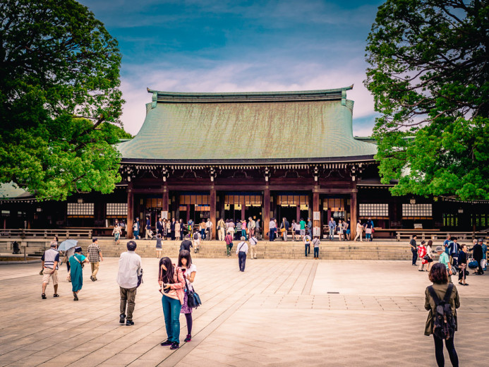 Meiji Jingu Courtyard