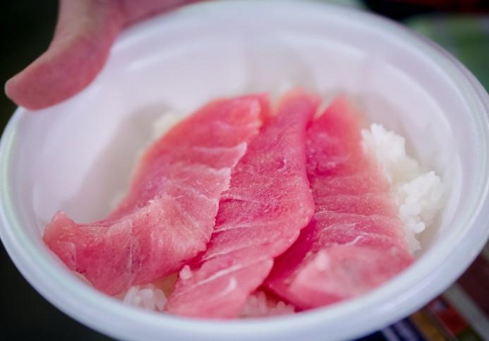 Maguro on Rice
