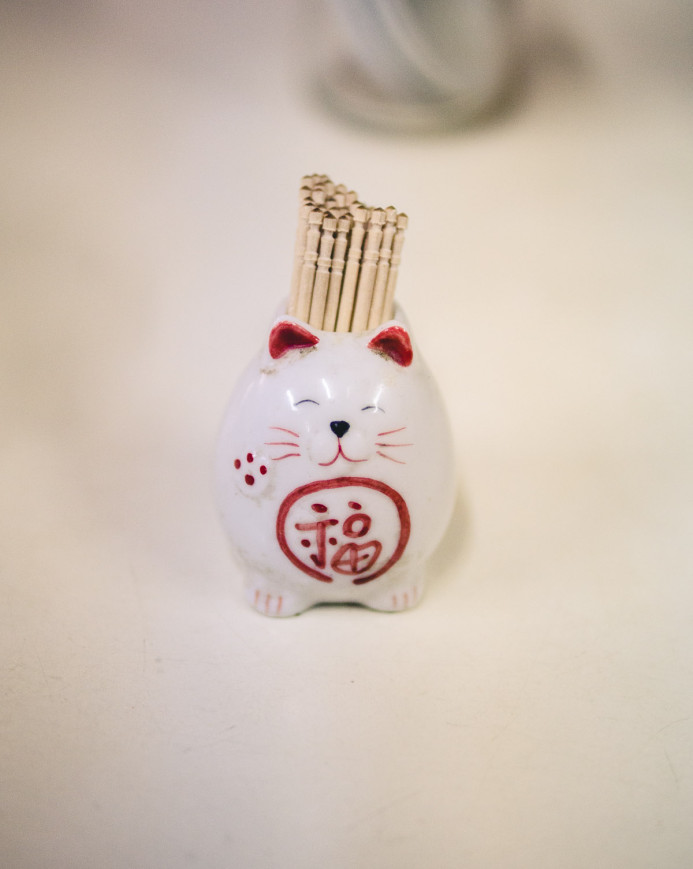 Good Luck Toothpick Neko