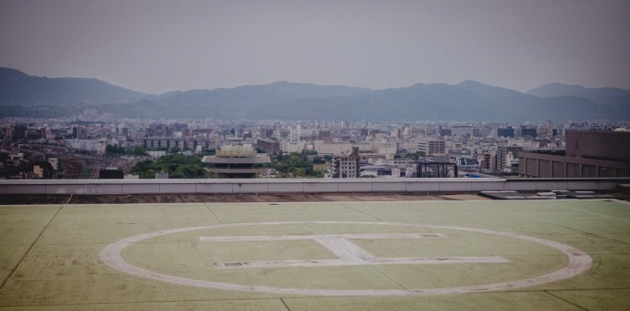 Helipad at Kyoto Station
