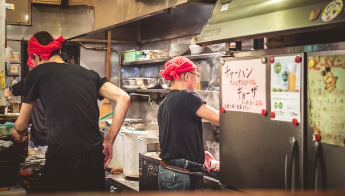 Ramen chefs at work