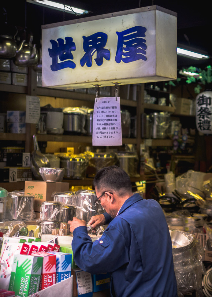 Shopping at Tsukiji Fish Market