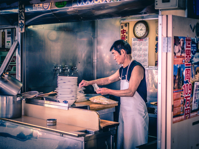 Ramen stall at Tsukiji Fish Market
