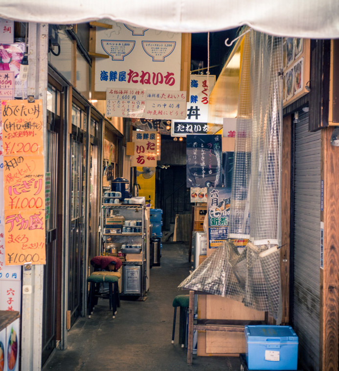 Food Alley at Tsukiji Fish Market