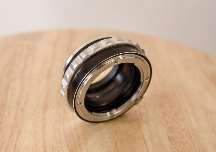 Manual aperture control ring