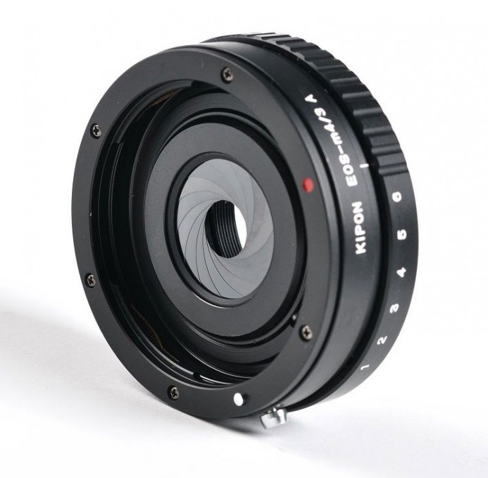 Passive Canon EF Lens adapter with Built-in Aperture