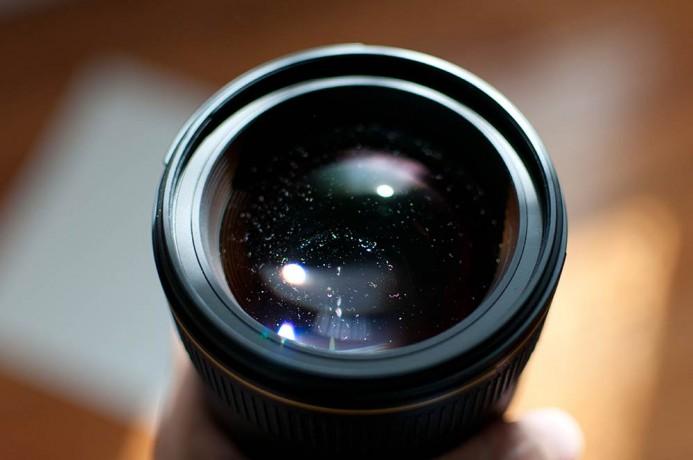 Dust in Lens