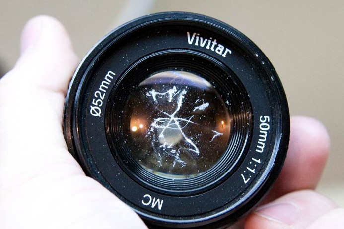 Scratches on Lens