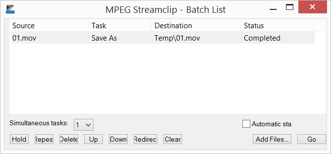 Joining multiple clips into single file with MPEG Streamclip