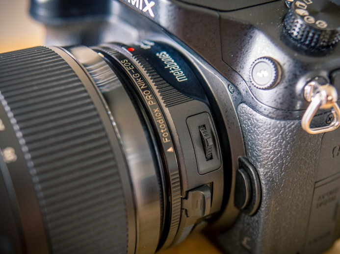 Mounting Nikon lens with Nikon G to Canon EF adapter