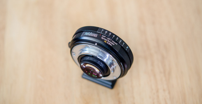 Manual aperture ring on Nikon-mount Speed Booster