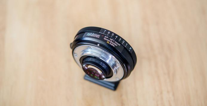 Manual aperture ring on Nikon-mount Speed Booster