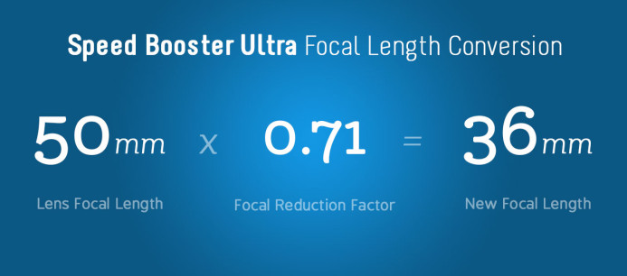 Speed Booster Ultra Focal Length Conversion