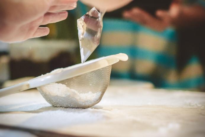 Picking up the mochiko flour