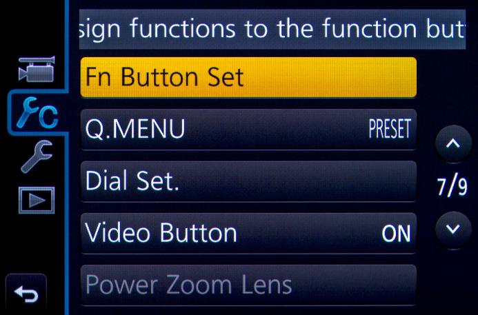 Function Button Setup