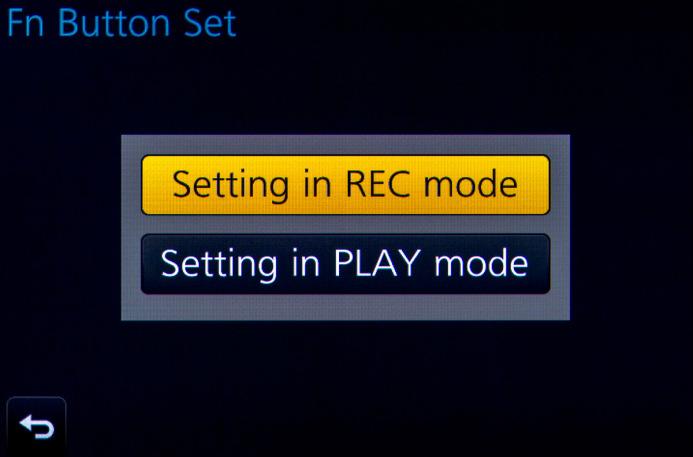 Function Button Setup for REC mode