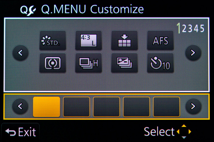 Remove Default Settings from Quick Menu Slots