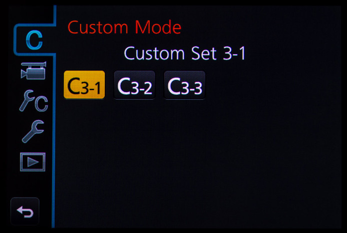 C3 Profile Selection Menu