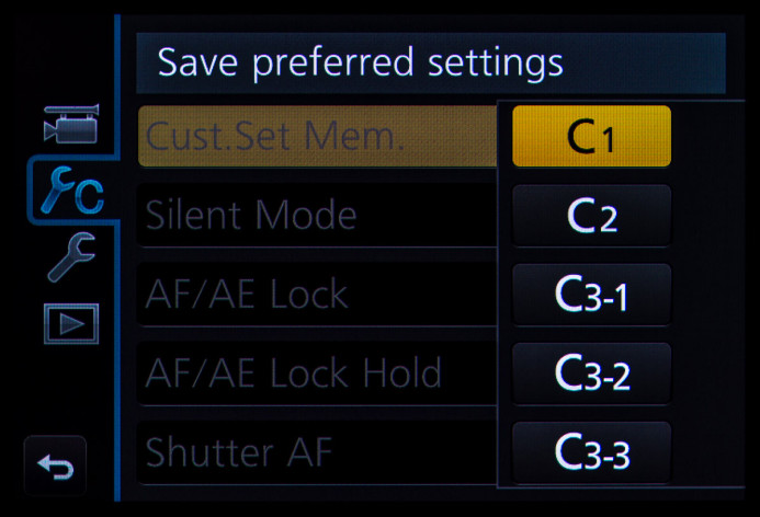 Select Profile to Save Settings To