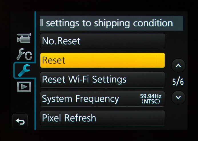 Reset Settings