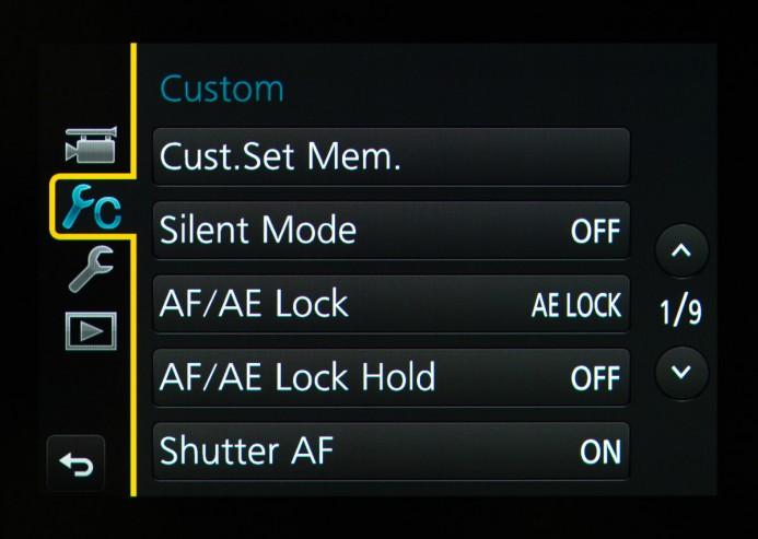 GH4 Custom Menu