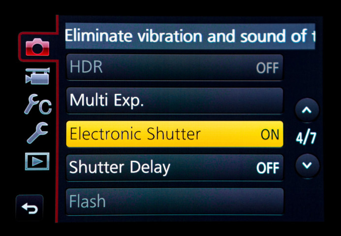 Electronic Shutter enabled