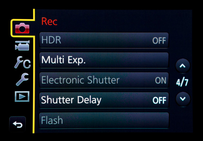 Electronic Shutter option inaccessible