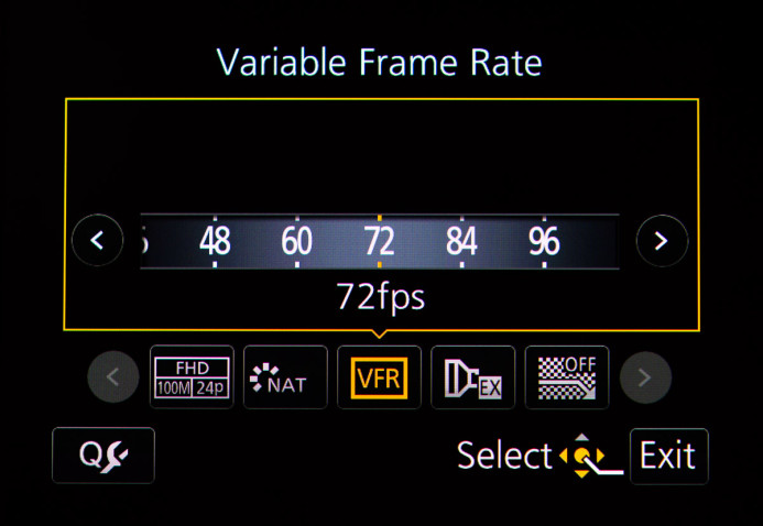 Variable Frame Rate Mode