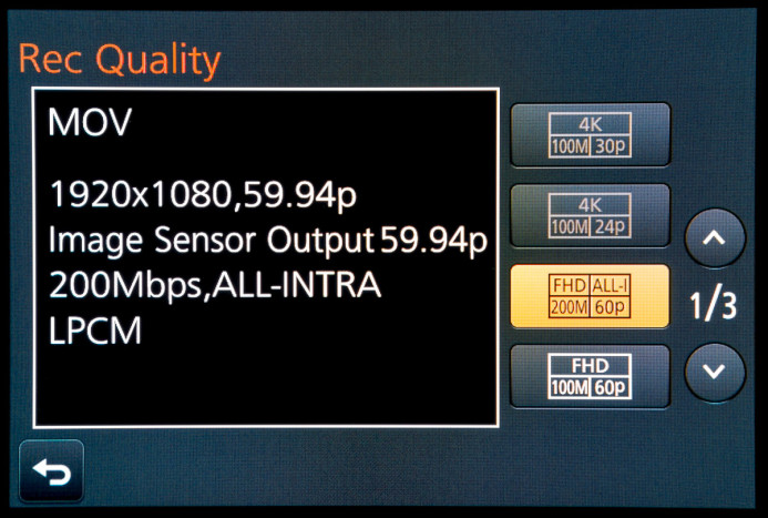 4K Recording modes are not accessible