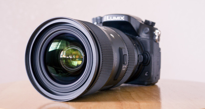Nikon-mount lens on a Canon EF Speed Booster (using Nikon/EF ada