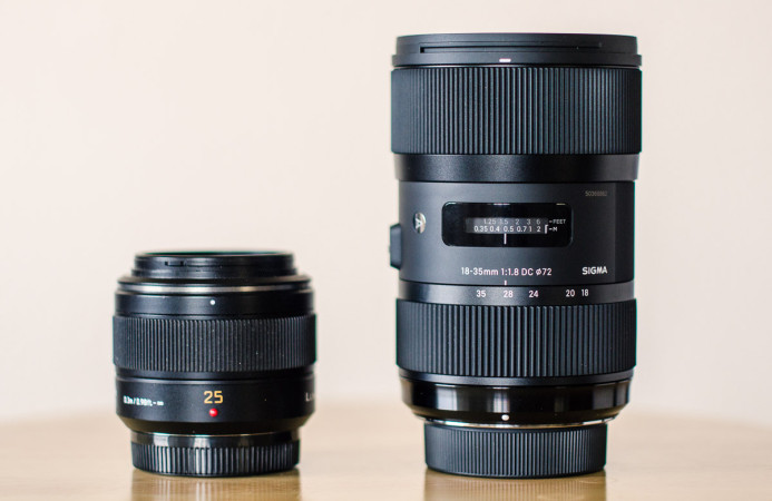Native MFT lenses are compact and lightweight