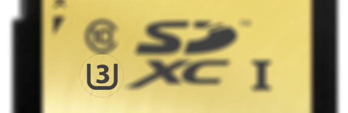 U3 Speed Class Logo on SDXC card
