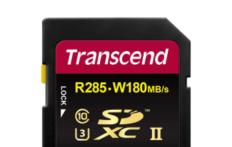 UHS-II SD card with read speeds up to 285MB/s